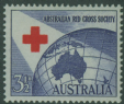 AUS SG276 3½d Ultramarine and Scarlet 40th Anniversary of Red Cross